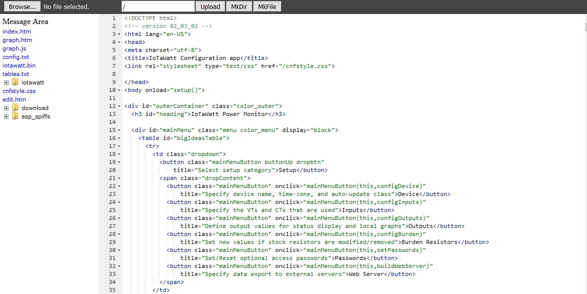 File Manager and Editor — IoTaWatt 02_03_20 documentation